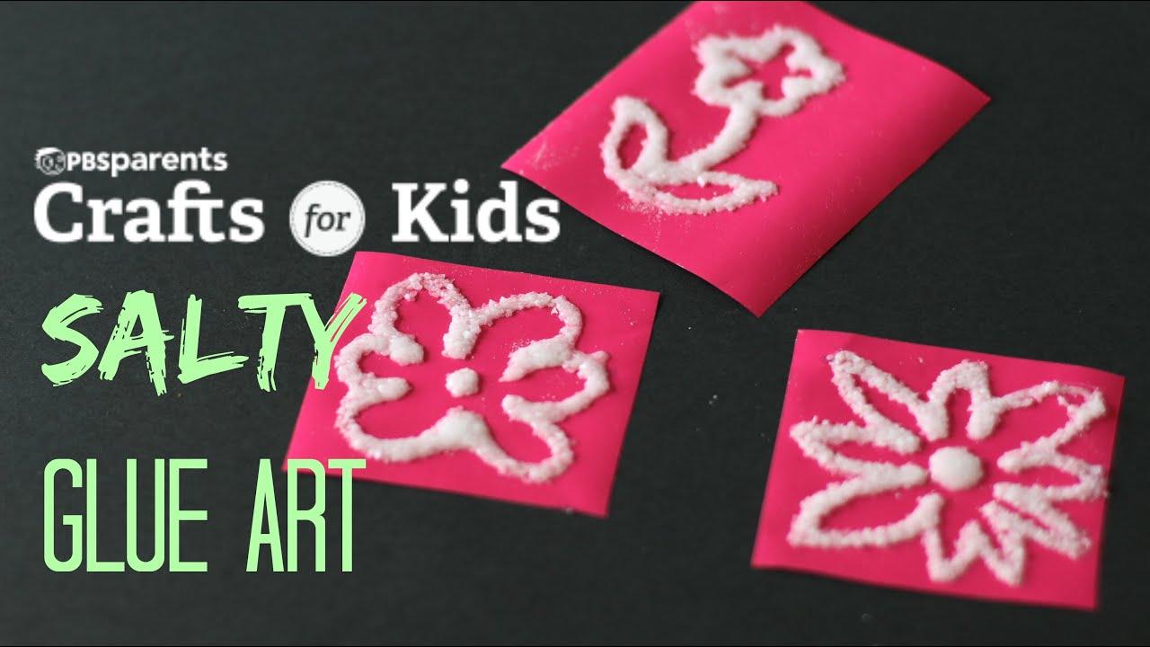 Sensory Salt Glue Art Crafts For Kids Pbs Parents Youtube