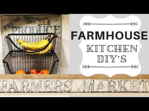 FARMHOUSE DIY | FARMHOUSE DIY DECOR | FARMHOUSE KITCHEN DECOR | DIY PROJECTS | PART2