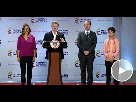 Declaración del Presidente Juan Manuel Santos - 11 de agosto de 2016