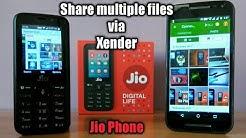 x xender download jio phone