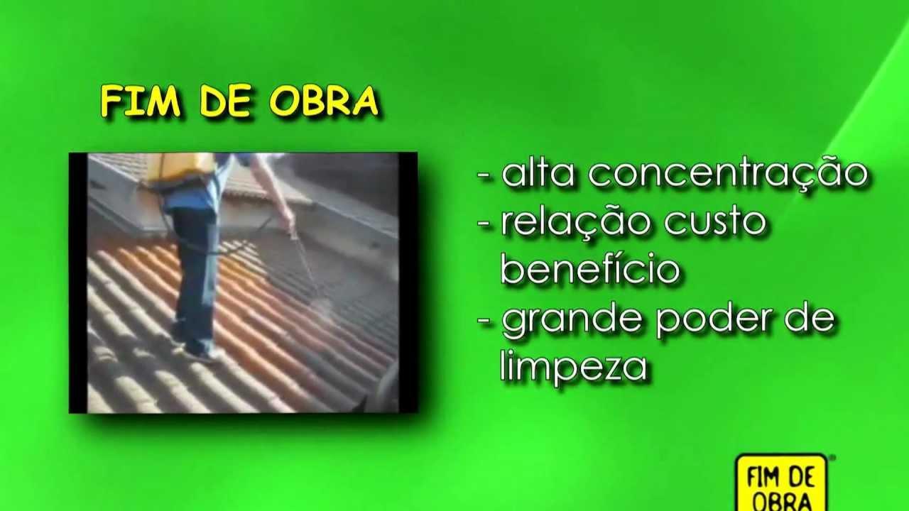 Fim de obra limpa telha youtube for Hipoclorito de sodio para piscinas