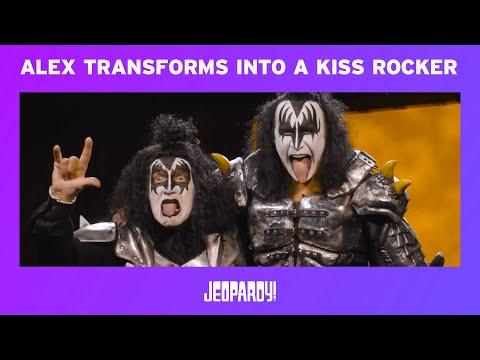 Bill George - Alex Trebek in Kiss makeup!