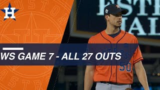 Watch as the Astros pitchers get all 27 outs in Game 7 of the World Series