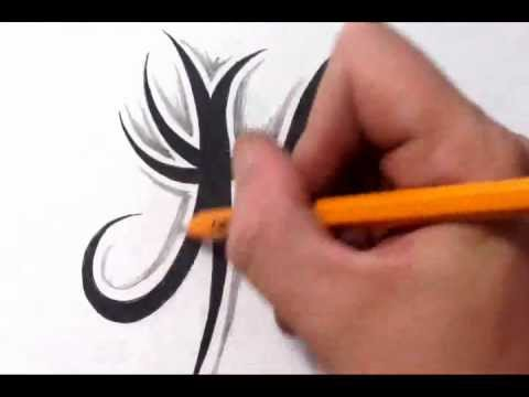 Pisces Tattoos How To Draw A Simple Tribal Star Sign Youtube