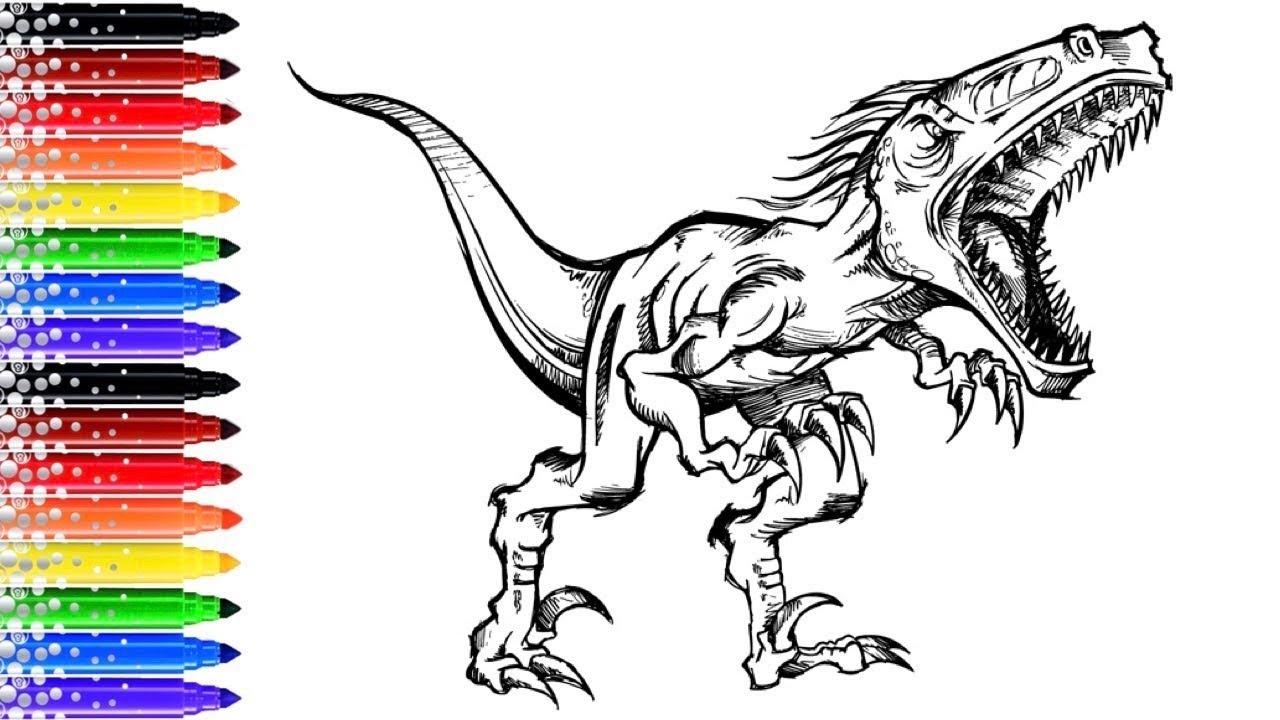 Coloriage Pro Dinosaure Youtube