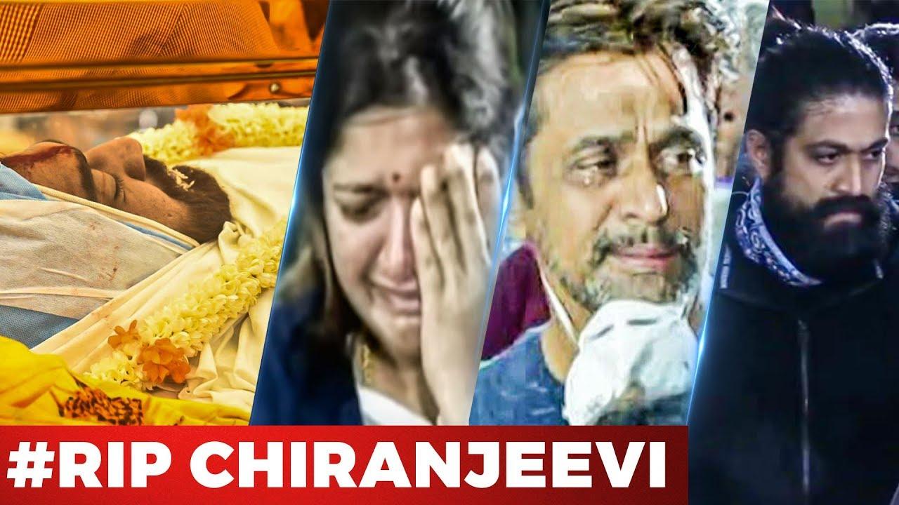 Video Rip Actor Chiranjeevi Sarja S Funeral Arjun Sarja Meghana Raj Yash Dhruva Sarja Youtube