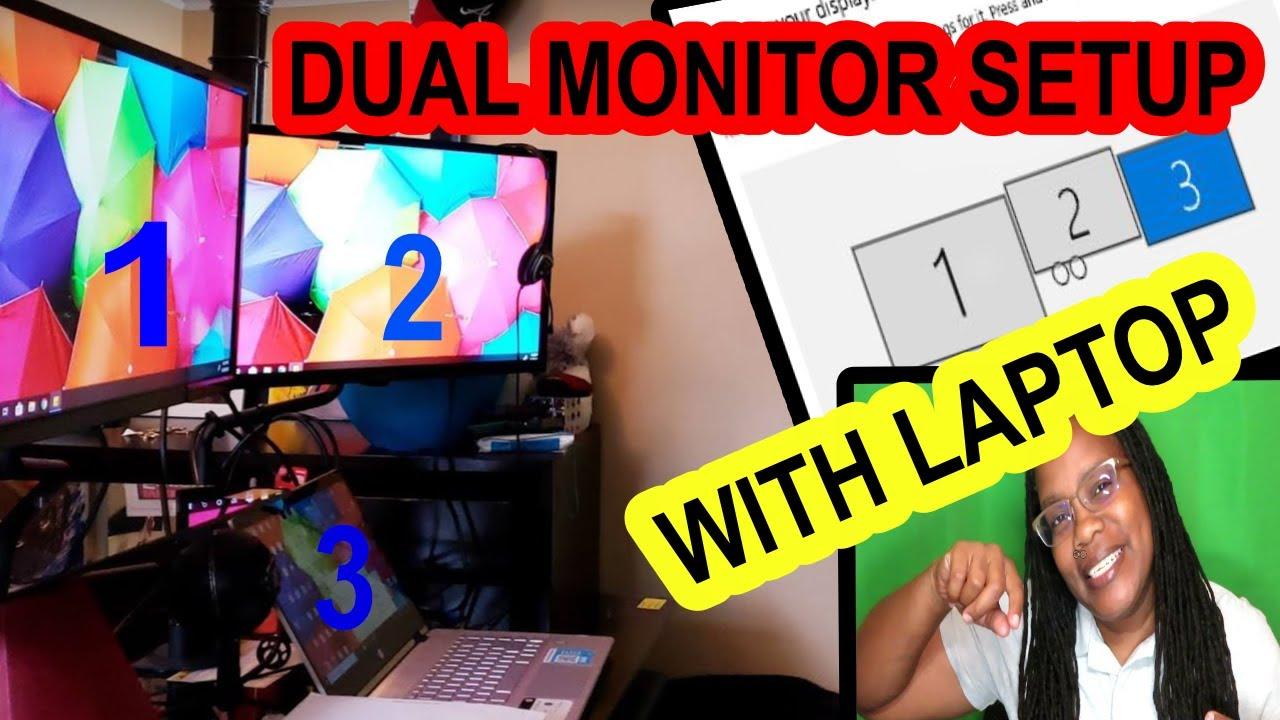 Dual hdmi how monitors to with 2021 setup ✌️ laptop marshillmusic.merchline.com: Selore&S