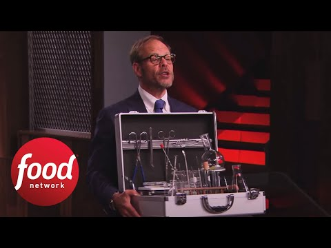 Testing The Sabotages Alton S Chemistry Set Cutthroat Kitchen Food Network