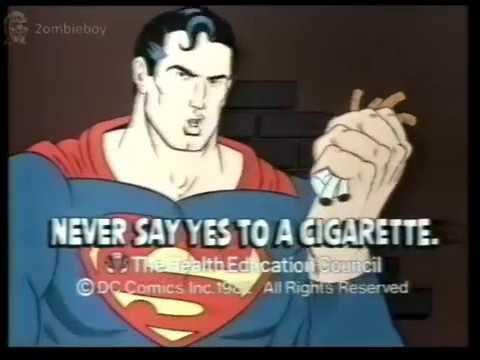 Super Man Dc Comics Say No to Cigarettes Advert (N1700) Anti Smoking
