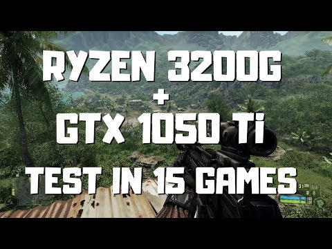 Ryzen 3 3200g + GTX 1050 Ti - 1080p Gaming Benchmarks - Test In 15 Games