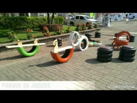 Juegos Infantiles En Llantas Recicladas Youtube