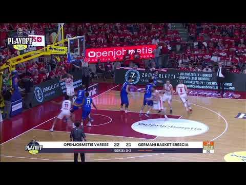HIGHLIGHTS G3 LBA Playoff/ Openjobmetis Varese - Germani Basket Brescia 64-69