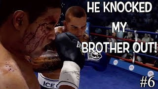 "MY BROTHER GOT SLUMPED BY ISSAC FROST! ( FUNNY ""FIGHT NIGHT CHAMPION"" GAMEPLAY #6"