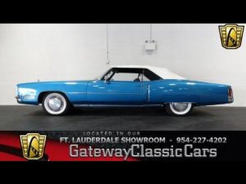 1972 Cadillac Eldorado - Gateway Classic Cars of Fort Lauderdale Stock #153
