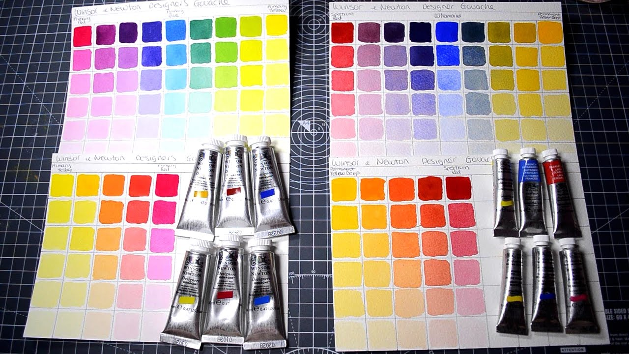 Making color mixing charts for watercolors and gouche with primary making color mixing charts for watercolors and gouche with primary colors youtube geenschuldenfo Image collections
