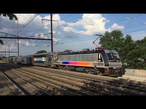 Amtrak & NJ Transit HD 60fps: Northeast Corridor Evening Rush Hour Action @ New Brunswick 6/21/16