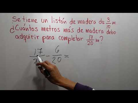 Problema de fracciones, listón de madera, Matemática primero de secundaria - Aprendo en casa