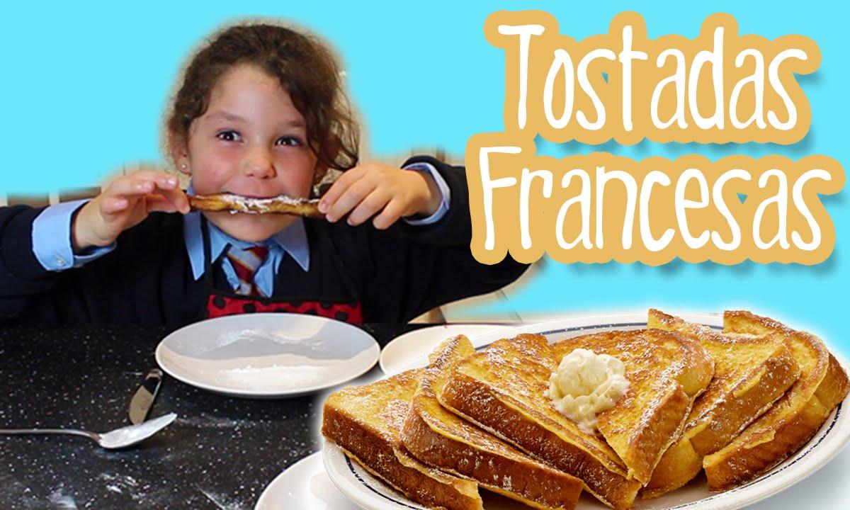 Tostadas francesas french toast cocina f cil para ni os for Cocina facil para ninos
