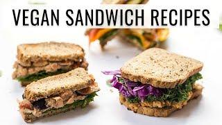 3 EASY VEGAN SANDWICH RECIPES | for school & work