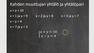 Kurssi 8: Funktio ja yhtölöparit, osa7: Funktio