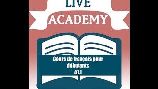 Cours de français  gratuit pour débutants. Leçon 1