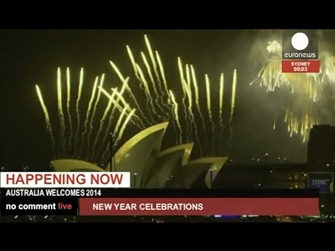 Happy New Year! Fireworks over Sydney as 2014 comes to Australia (recorded live feed)