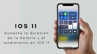 Aumenta la duración de la batería en tu iPhone - iOS 11