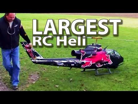 Worlds largest RC Heli - Red Bull Cobra (hobby class turbine, Josef Schmirl)