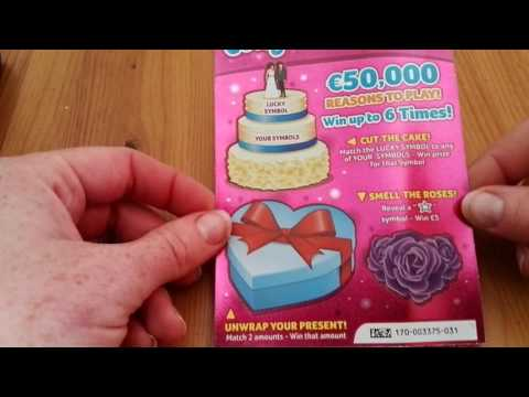 Congratulations scratchcard by Irish National Lottery - #368