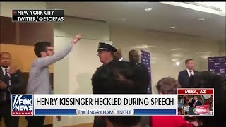 WATCH: Henry Kissinger Told to 'Rot in Hell' During NYU Speech