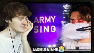A MAGICAL MOMENT! (BTS 'Young Forever' Army Singing Surprise at Wembley Stadium | Reaction/Review)