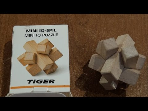 Mini IQ PUZZLE TIGER **the solution**wooden puzzles