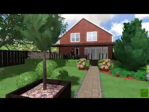 Ландшафтный дизайн 6 соток - Дизайн проект озеленения участка
