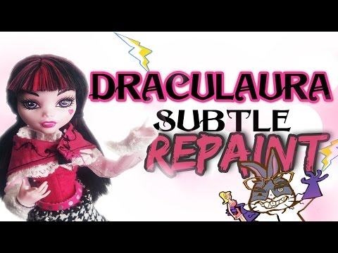 Monster High Draculaura Makeover: Mad Scientist Doll Customs Episode 10