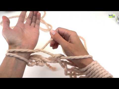 Arm Knit Infinity Scarf (Cowl)