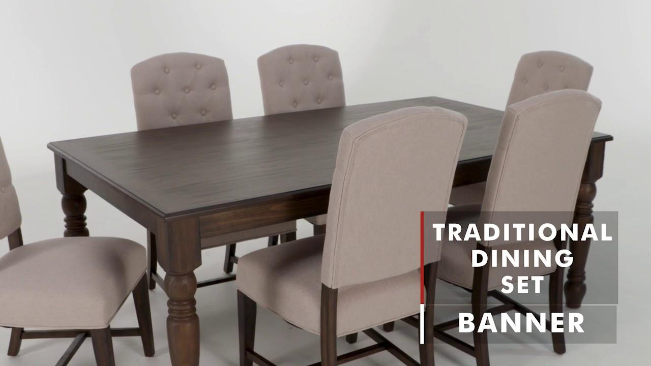 Product Spotlight Banner Dining Set Wg R Furniture Youtube