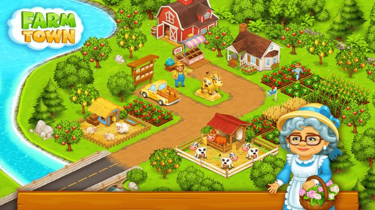 Resultado de imagem para Farm Town: Happy farming Day & with farm game City