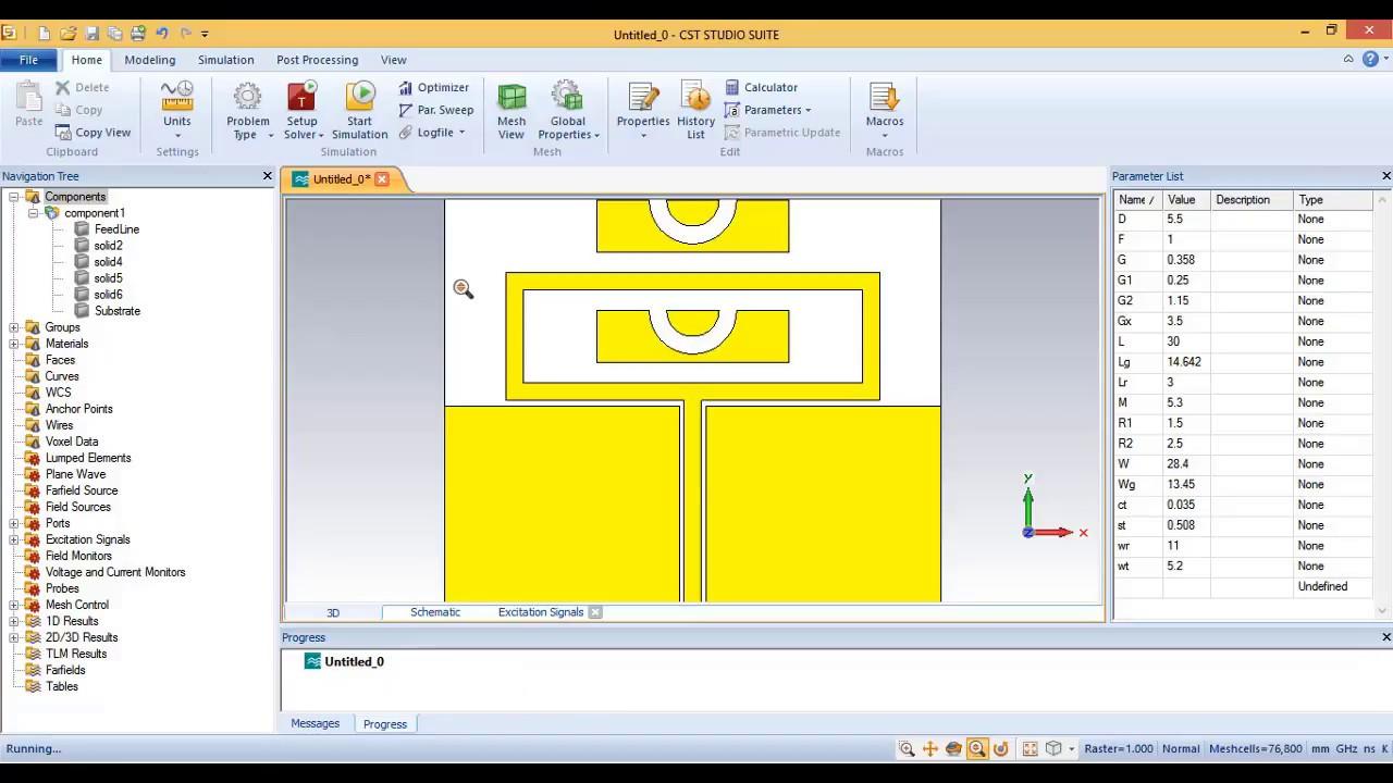 How To Design Reconfigurable Antenna In Cst Studio Suite Youtube