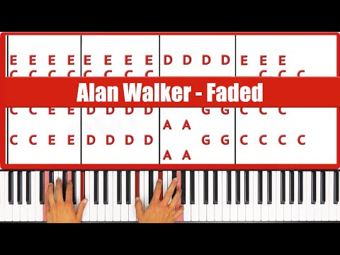 Faded Alan Walker Piano Tutorial Melody Included Youtube