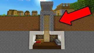HIDDEN House Inside a WELL in Minecraft Pocket Edition