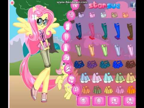 Equestria Girls Fluttershy Pony Games Dress Up Games