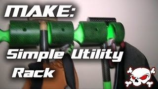 Make:  How To Make A Simple Utility Rack For Your Garage Or Shop.