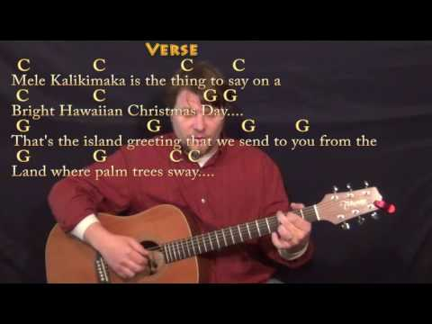 Mele Kalikimaka (Christmas) Fingerstyle Guitar Cover Lesson in C with Chords/Lyrics