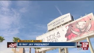 Is Raymond James Stadium prepared for an electrical surge blackout?