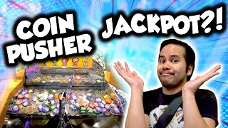 Let's win the Flintstones coin pusher jackpot at Circus Circus arcade in Las Vegas!