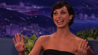 Morena Baccarins Thong Has Brush With Disaster - Conan on TBS