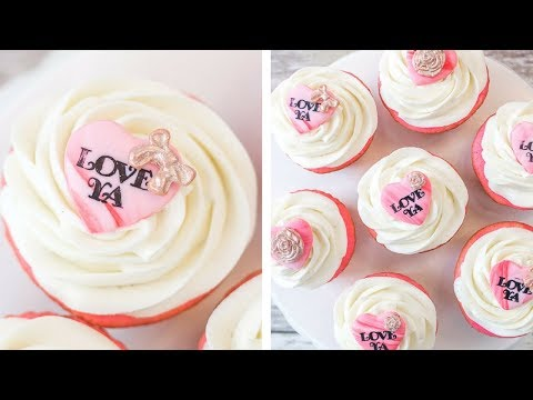 Easy Valentines Cupcake Toppers