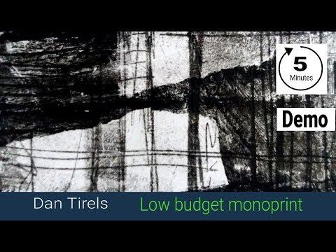 Low budget monoprinting ! quick demo