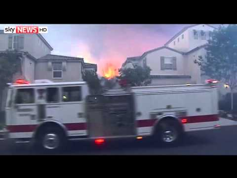 Wildfires Force San Diego Residents To Flee