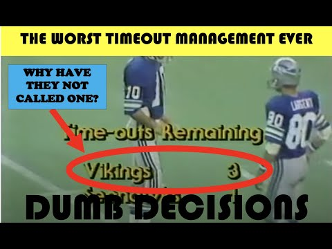 [OC] [Highlight] [Dumb Decisions] In 1978, the Seahawks had the ball in the red zone down by 2 with less than 2 minutes left. Inexplicably, the Vikings decided not to call any of their 3 timeouts. Seattle hit the game-winning FG with no time left. This is the worst timeout management ever